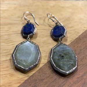Silpada Lapis of Luxury Blue Earrings Labradorite